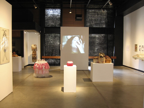 "Installation View of the ""A Studio of Their Own"" Exhnibition"