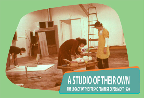 Members of the Fresno Feminist Art Program at work in the feminist studio, 1970. Photograph by Dori Atlantis.